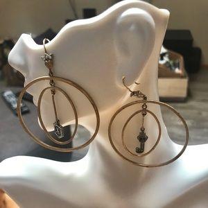 Juicy Couture vintage earrings multi hoop & dangle
